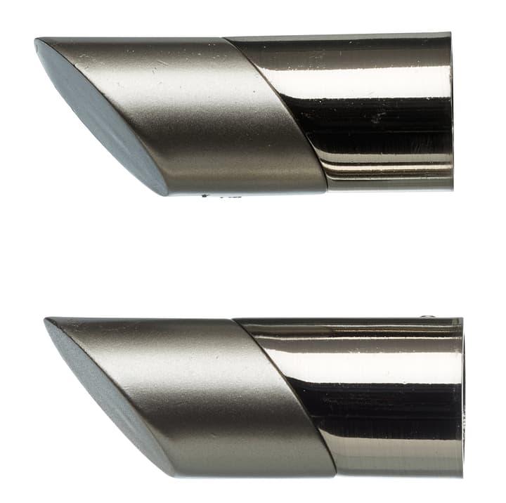 Embout métal GIBRALTAR 60x24mm 430561800080 Couleur Gris Dimensions L: 60.0 mm x P: 24.0 mm x H:  Photo no. 1