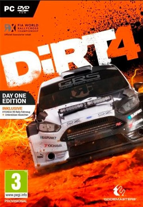 PC - DiRT 4 Day One Edition 785300122297