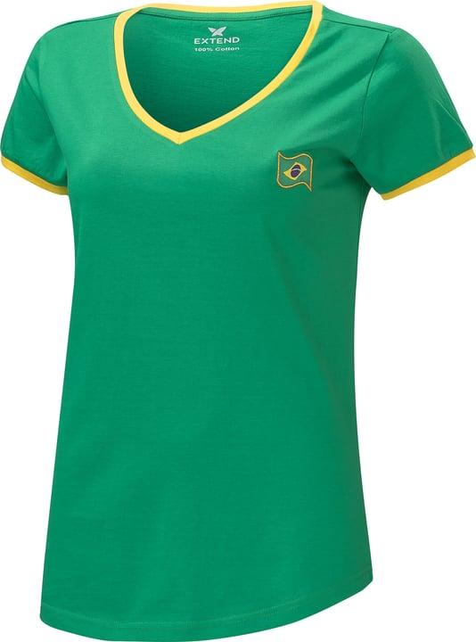Brasilien Fussball-Damen-Fan-Shirt Extend 498284300760 Farbe Grün Grösse XXL Bild-Nr. 1