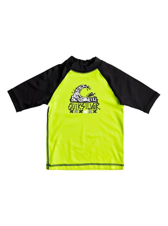 T-shirt de bain U.V.P. pour garçon Quiksilver 472339411055 Couleur jaune néon Taille 110 Photo no. 1