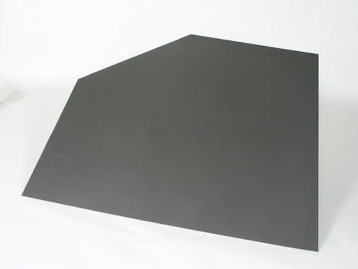 Bodenplatte Stahl fünfeckig grau 678014200000 Bild Nr. 1