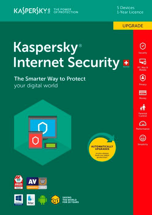 PC / Mac / Android Internet Security Upgrade Kaspersky 785300129044