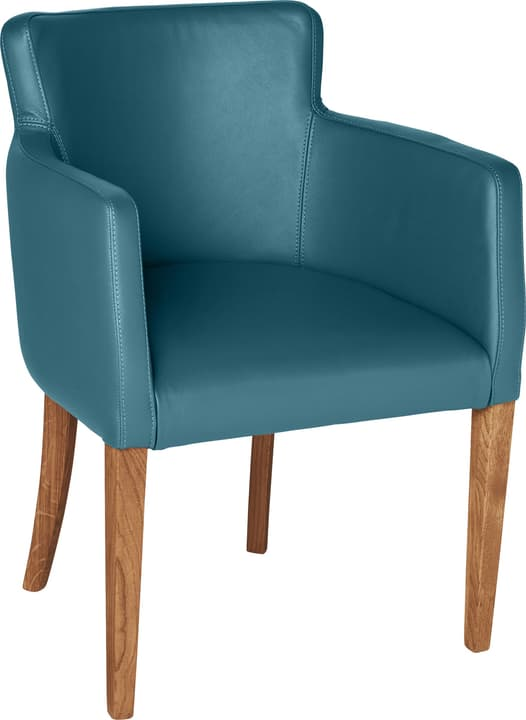 MORISANO Chaise 402358200044 Dimensions L: 56.0 cm x P: 46.0 cm x H: 79.0 cm Couleur Turquoise Photo no. 1