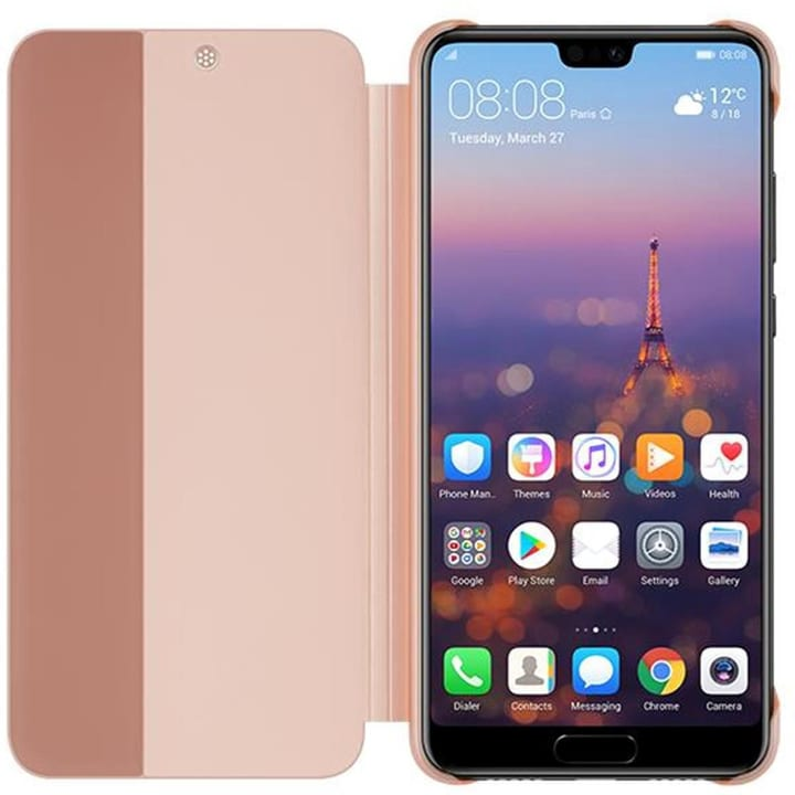 Smart View Flip Cover rosé vif Coque Huawei 785300135608 Photo no. 1