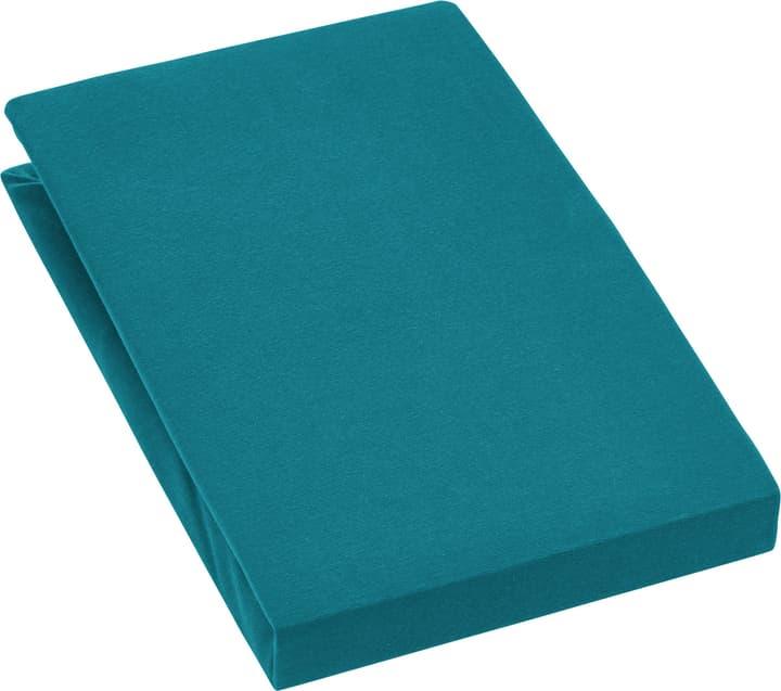 EVAN Lenzuolo teso jersey stretch 451053930463 Colore verde scuro Dimensioni L: 140.0 cm x A: 200.0 cm N. figura 1