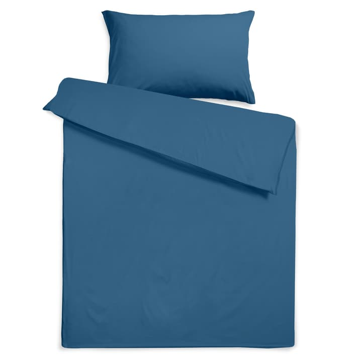 KOS Housse de couette Satin 376076712442 Dimensions L: 240.0 cm x L: 160.0 cm Couleur Ensigne Blue Photo no. 1