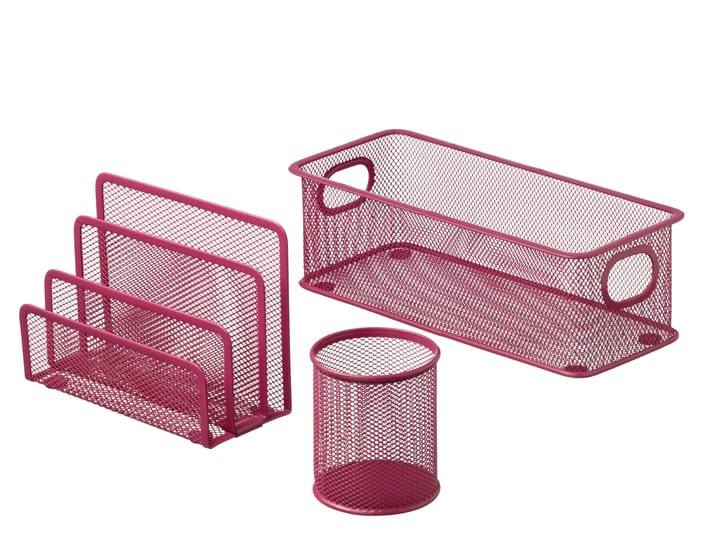 MESH Set de bureau 440632400336 Couleur Pink Dimensions L: 9.0 cm x P: 28.0 cm x H: 13.5 cm Photo no. 1