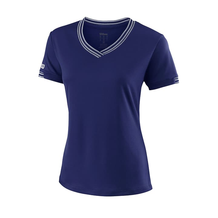 TEAM V-NECK Shirt pour femme Wilson 473222400543 Couleur bleu marine Taille L Photo no. 1