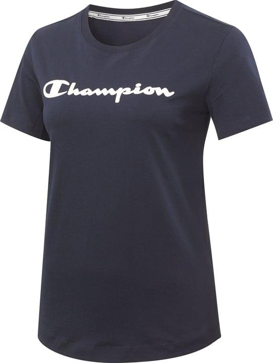 Crewneck T-Shirt Maglietta da donna Champion 464228400643 Colore blu marino Taglie XL N. figura 1