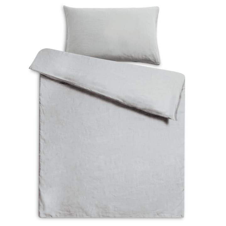 LINEN Taie d'oreiller lin 376008138702 Couleur Gris clair Dimensions L: 65.0 cm x L: 65.0 cm Photo no. 1