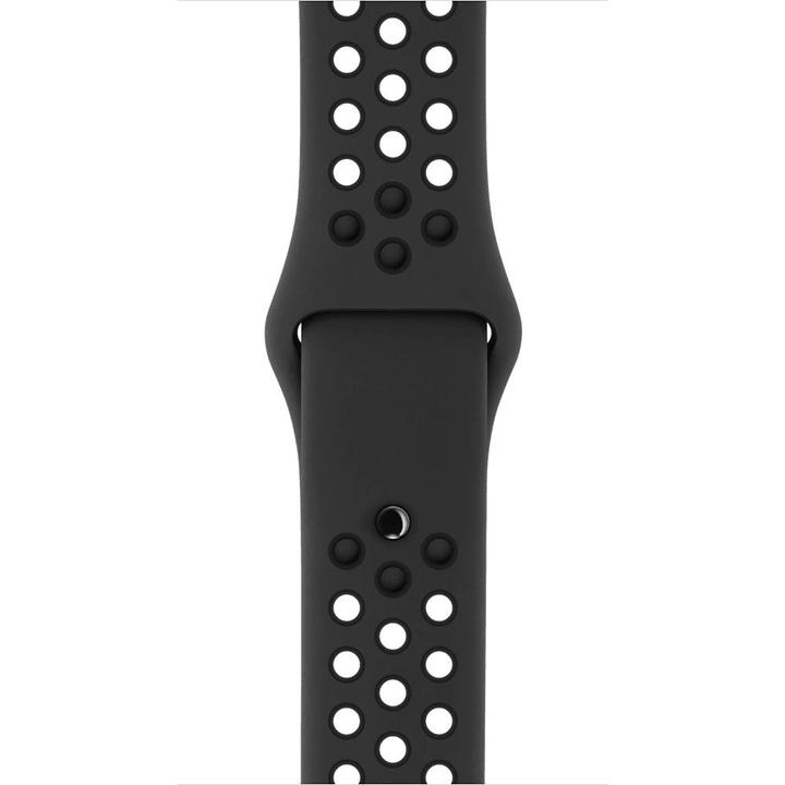 42 mm Nike Sportarmband, Anthrazit/Schwarz – S/M und M/L Apple 785300128927 Bild Nr. 1