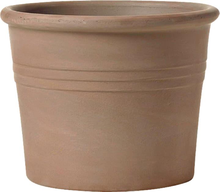 Vaso cilindrico in terracotta Deroma 659142000000 Taglio ø: 33.6 cm x A: 25.3 cm Colore Mocca N. figura 1