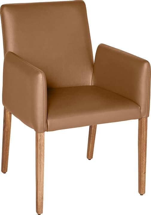 PIRAS Chaise 402358000069 Dimensions L: 58.0 cm x P: 55.0 cm x H: 86.0 cm Couleur Camel Photo no. 1