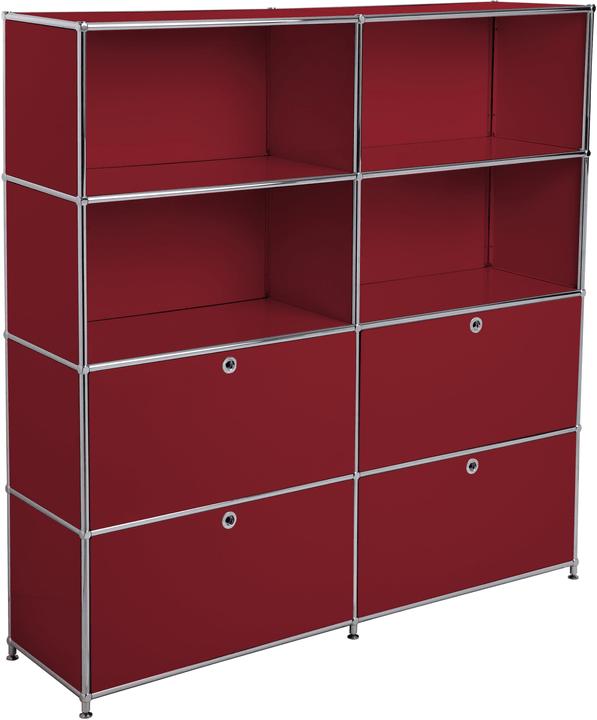 FLEXCUBE Scaffale 401815120430 Dimensioni L: 152.0 cm x P: 40.0 cm x A: 155.5 cm Colore Rosso N. figura 1