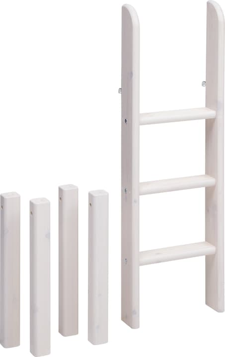 CLASSIC Echelle droite mi-hauteur Flexa 404854200000 Dimensions L: 41.0 cm x P: 11.0 cm x H: 120.0 cm Couleur White Wash Photo no. 1