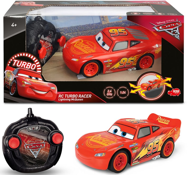 RC Cars 3 Turbo Racer Lightning McQueen 747426600000 Photo no. 1