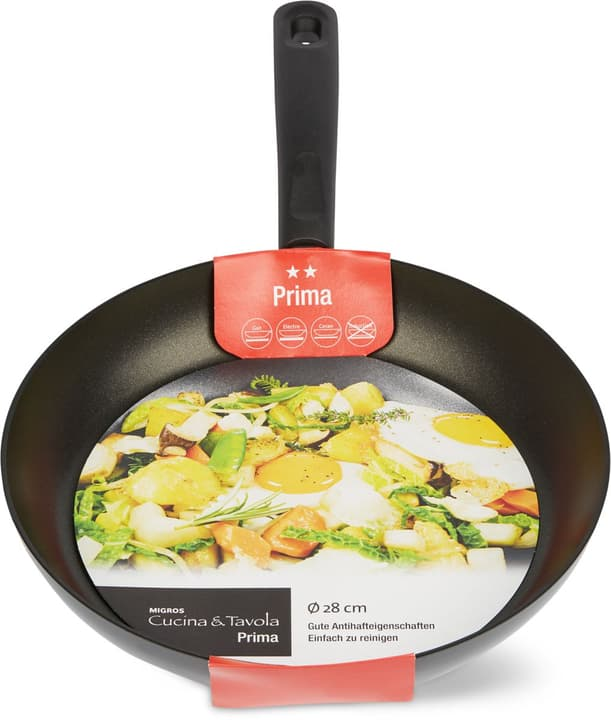 Bratpfanne 28cm flat PRIMA Cucina & Tavola 703524200000 Bild Nr. 1