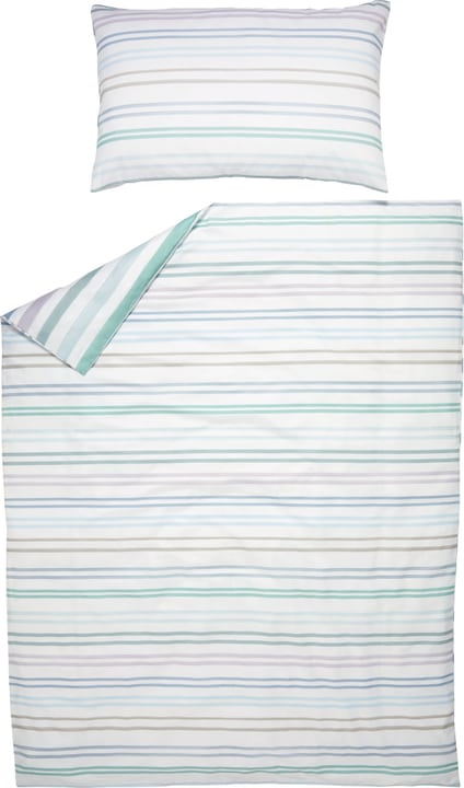 LEA Fourre de duvet en satin 451292112341 Couleur Menthe Dimensions L: 160.0 cm x H: 210.0 cm Photo no. 1