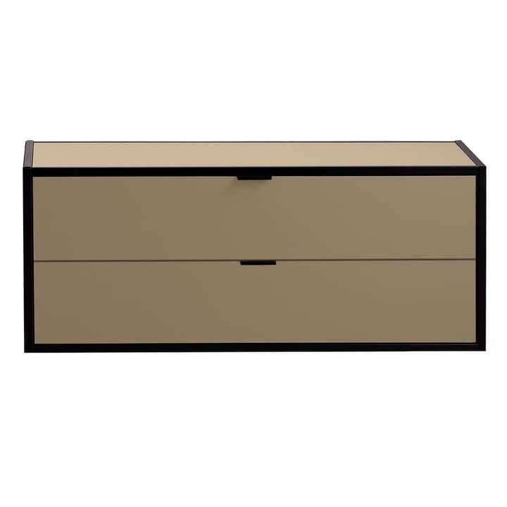 SEVEN Schublade mit Abdeckung Edition Interio 360985300000 Grösse B: 90.0 cm x T: 38.0 cm x H: 35.0 cm Farbe Braun Bild Nr. 1