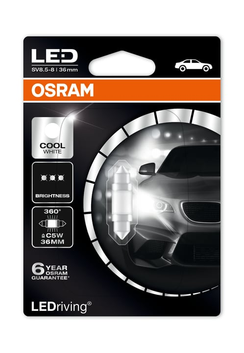 LED Retrofit C5W blanc froid 6000K Ampoule Osram 620476700000 Photo no. 1