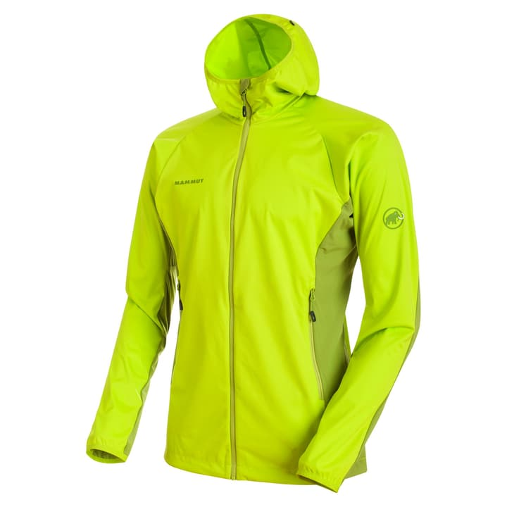 Kento Light Hood Veste softshell pour homme Mammut 462779100562 Couleur vert neon Taille L Photo no. 1