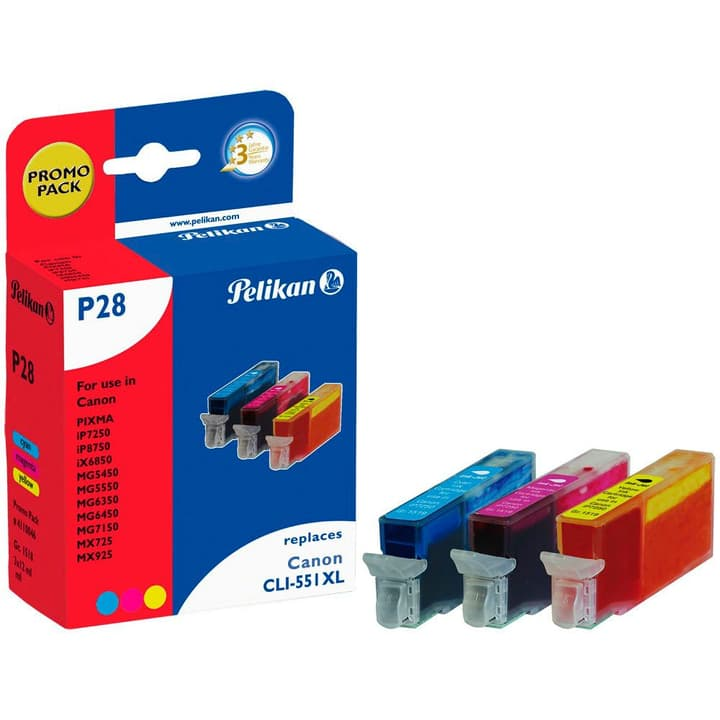 P28 CLI-551  Multipack Cartouche d'encre Pelikan 785300123294 Photo no. 1