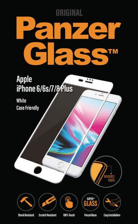 Premium iPhone 6/6s/7/8 Plus - blanche Panzerglass 785300134551 Photo no. 1