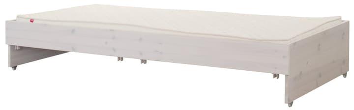 CLASSIC Lit extractible Flexa 404959300000 Dimensions L: 90.0 cm x P: 190.0 cm x H: 34.0 cm Couleur White Wash Photo no. 1