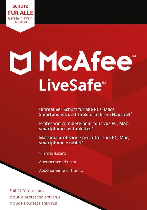 LiveSafe Unlimited Devices Physique (Box) Mc Afee 785300131278 Photo no. 1
