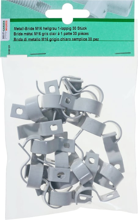 Metall-Bride M16 1-lappig, 30 Stk. Do it + Garden 613012100000 Bild Nr. 1