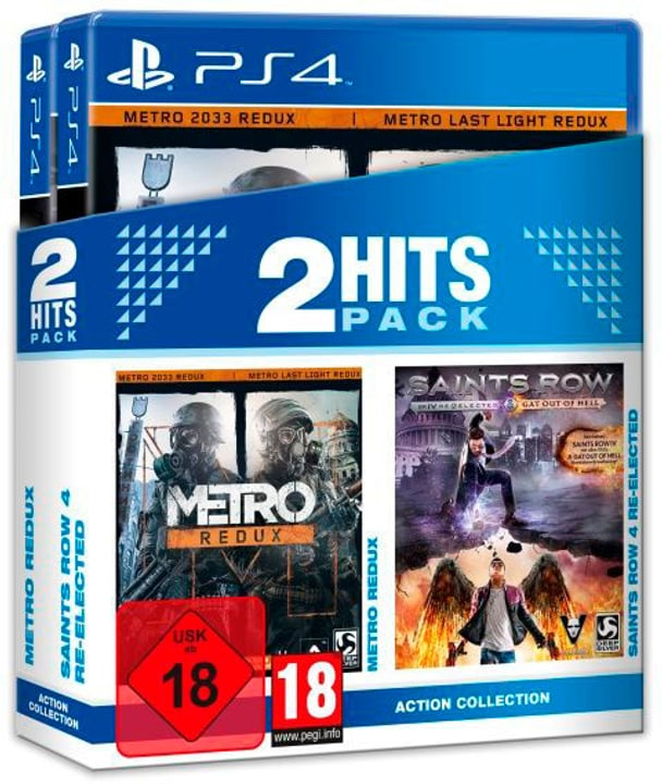 PS4 - 2 Hits Pack Metro Redux + Saints Row 4 Re-Elected (D) Fisico (Box) 785300131223 N. figura 1