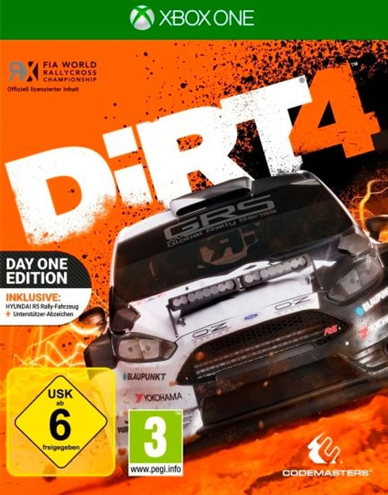 Xbox One - DiRT 4 Day One Edition Physique (Box) 785300122308 Photo no. 1