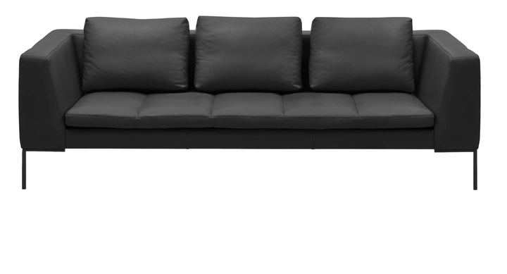 BADER 3er-Sofa 405686130320 Grösse B: 238.0 cm x T: 105.0 cm x H: 80.0 cm Farbe Schwarz Bild Nr. 1