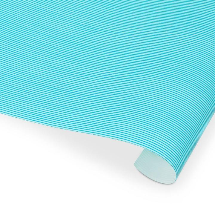 LIGNES Geschenkpapier 386100400000 Farbe Blau gestreift Grösse B: 300.0 cm x T: 70.0 cm Bild Nr. 1