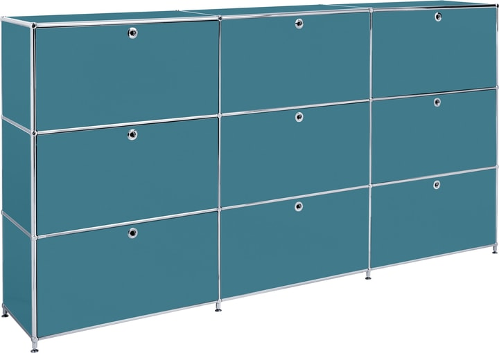 FLEXCUBE Buffet haut 401815030366 Dimensions L: 227.0 cm x P: 40.0 cm x H: 118.0 cm Couleur Pétrole Photo no. 1