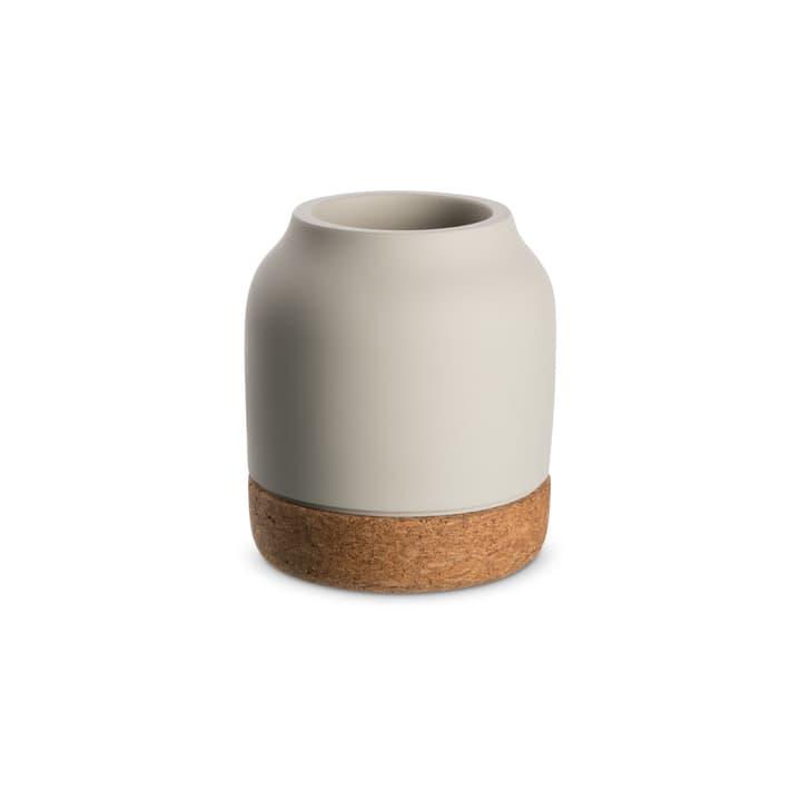 KORK Vase 396121400000 Grösse B: 10.0 cm x T: 10.0 cm x H: 11.2 cm Farbe Hellgrau Bild Nr. 1