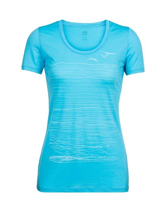 Spector Coast Scoop T-shirt à manches courtes pour femme Icebreaker 477075400682 Couleur turquoise claire Taille XL Photo no. 1