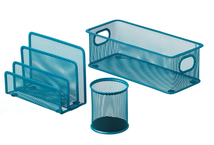 MESH Set per ufficio 3 pezzi 440632400340 Colore Blu Dimensioni L: 28.0 cm x P: 9.0 cm x A: 13.5 cm N. figura 1