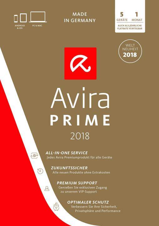 Avira Prime v2018 PC (D) Digital (ESD) 785300133965 Bild Nr. 1