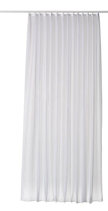 VOILE UNI Rideau prêt à poser jour avec galets 430220000000 Couleur Blanc Dimensions L: 130.0 cm x H: 230.0 cm Photo no. 1