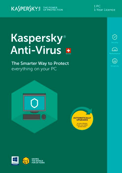 Anti-Virus (1 Device) [PC/Mac/Android] D/F/I Physisch (Box) Kaspersky 785300129049 Bild Nr. 1