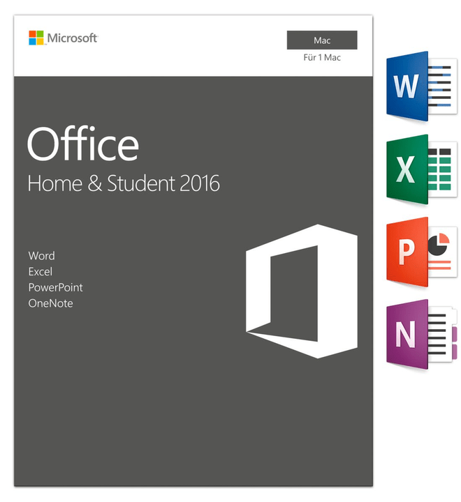 Mac - Office MAC 2016 Home and Student Physique (Box) Microsoft 785300121055 Photo no. 1