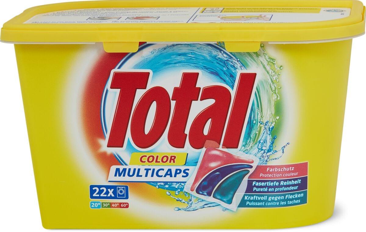 Total Produit de lessive Color Caps en boîte