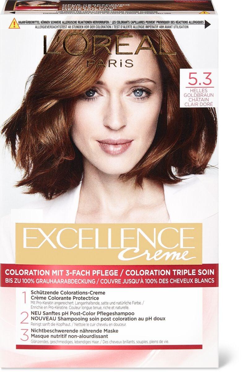 L'Oréal Excellence Creme 5.3 Helles Goldbraun