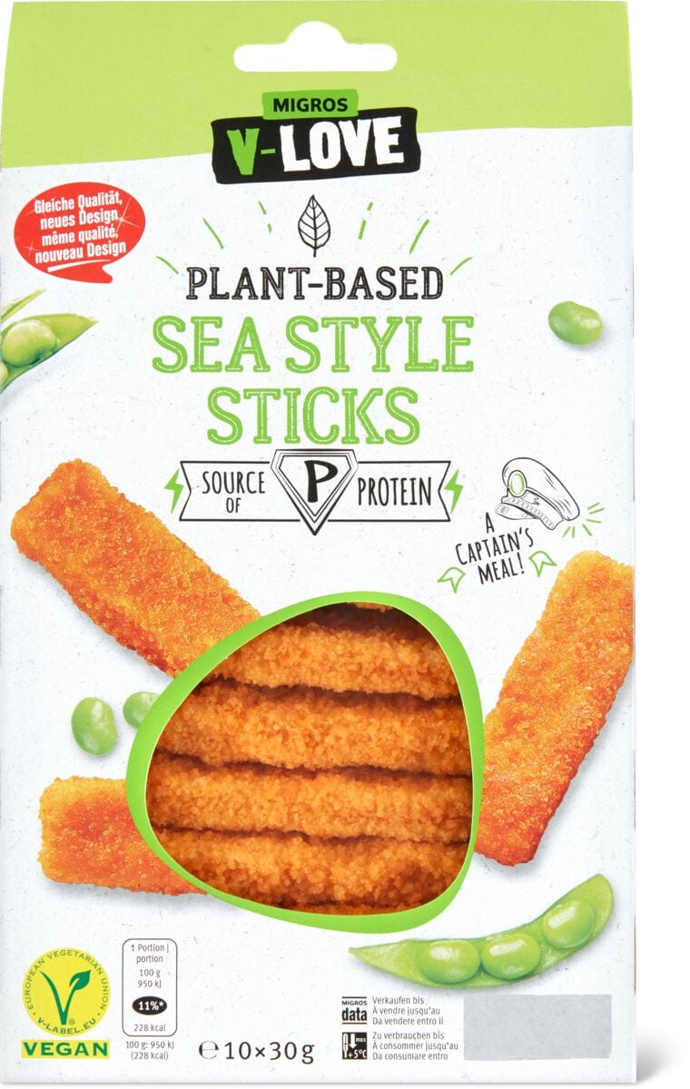 V-Love Plant-Based Sea Style Sticks
