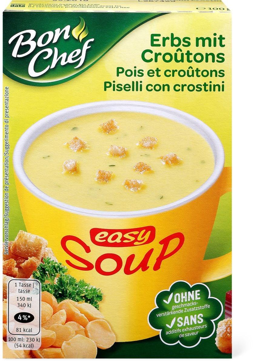 Bon Chef easy soup Piselli con crostini