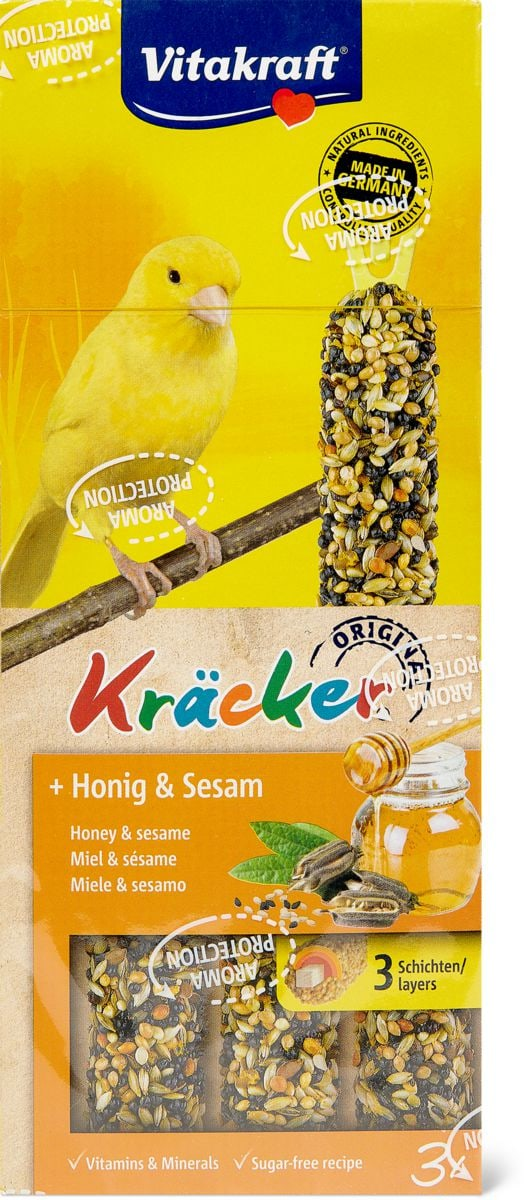 Cracker Miel&sésame, canaris