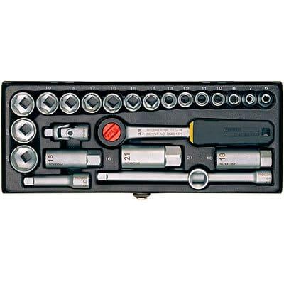 """Proxxon Steckschlüssel-Satz 3/8""""-Ratsche für 6 - 24 mm, 24-teilig."""