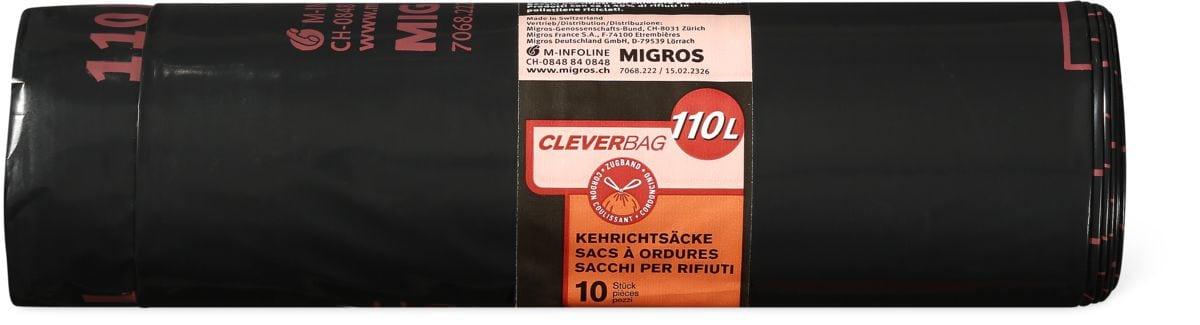 Sacs poubelle Cleverbag, rouleau, 110 l