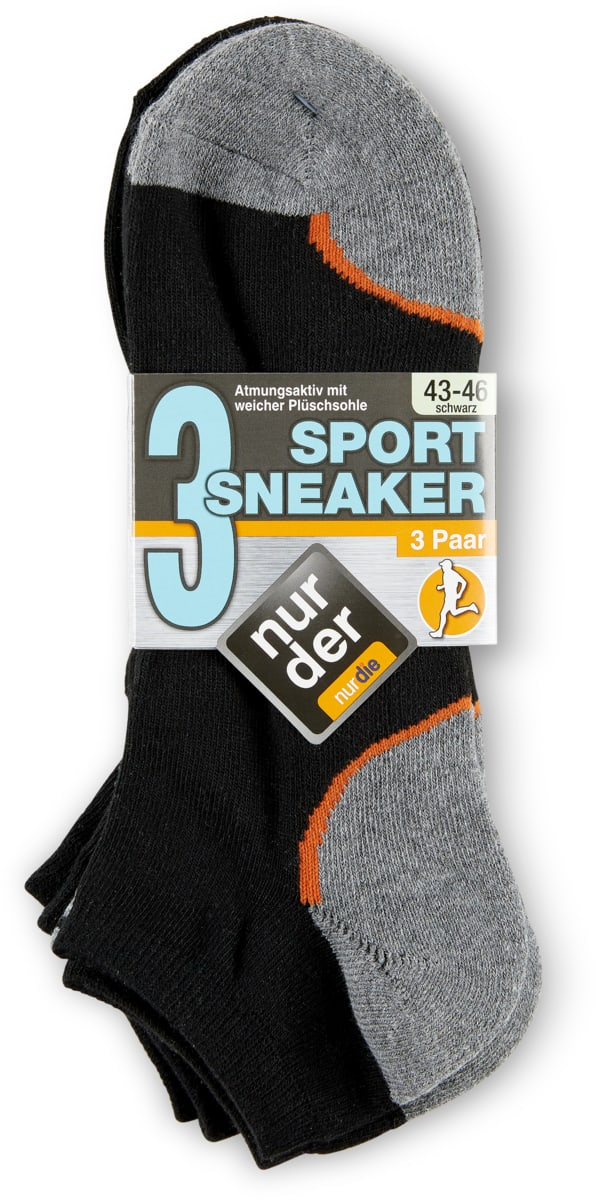 Herren-Sneaker-Socken im 3er-Pack, 3er-Pack
